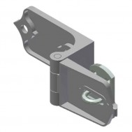 "Heavy Hasp, (1-3/4"" Thick Doors)-Zinc (182p20)"