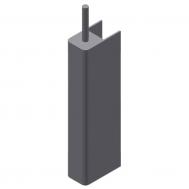 M1 Safety Edge x 7', Gray, Non-Monitored, End, 2' Leadin