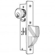"SWING Door Lock, 1-1/8"" Backset"