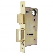 Pocket Door Lock and Pull with Variable Backset