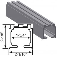 Track, Clear Anodized Aluminum