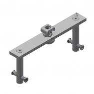 Center Hung Pivot: Keeper, Swivel & Top Plate-Zinc (135x5)