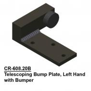 Telescoping Bump Plate (#6, #8, #10 Tracks), Ptd. Gloss Black