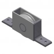 "3"" Bottom Roller Assembly w. S.S. Wheel (650 lb Capacity)"