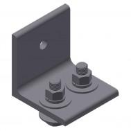 Wall Mount Angle Joint Splice Bracket Assy.-Black SCW
