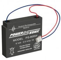 PS-605   SEALED BATT 6V 0.5AH AGM
