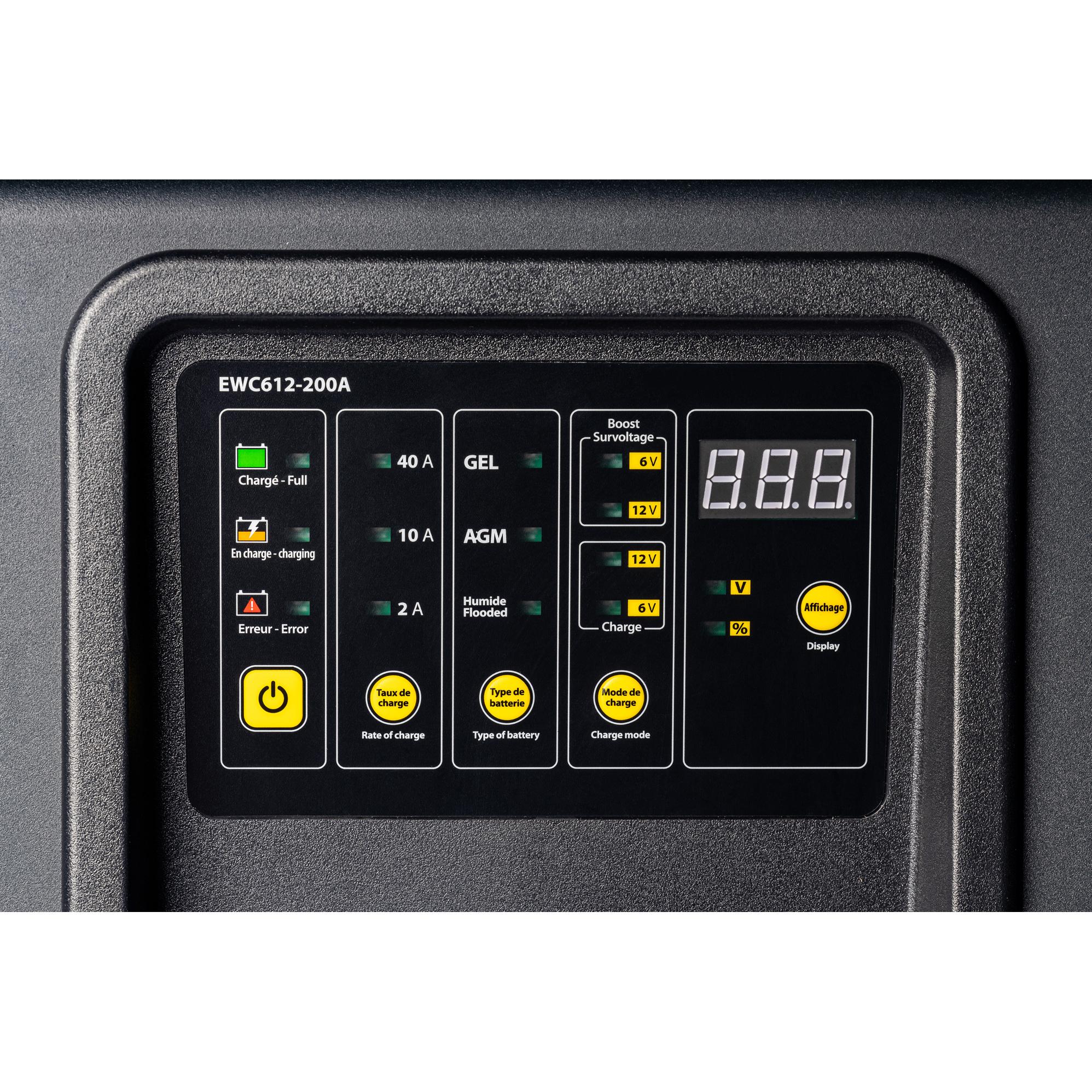 EWC612-200A   SHOP CHARGER 6/12V 2/10/40/100/200A