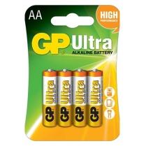 GP15AU-C4   Pile alcaline AA 1.5V GP Ultra (carte de 4)