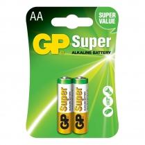 GP15A-2U2   Pile alkaline AA GP Super (carte de 2)