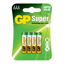 GP24A-2U4  Alkaline battery AAA 1.5V GP Super (card of  4)