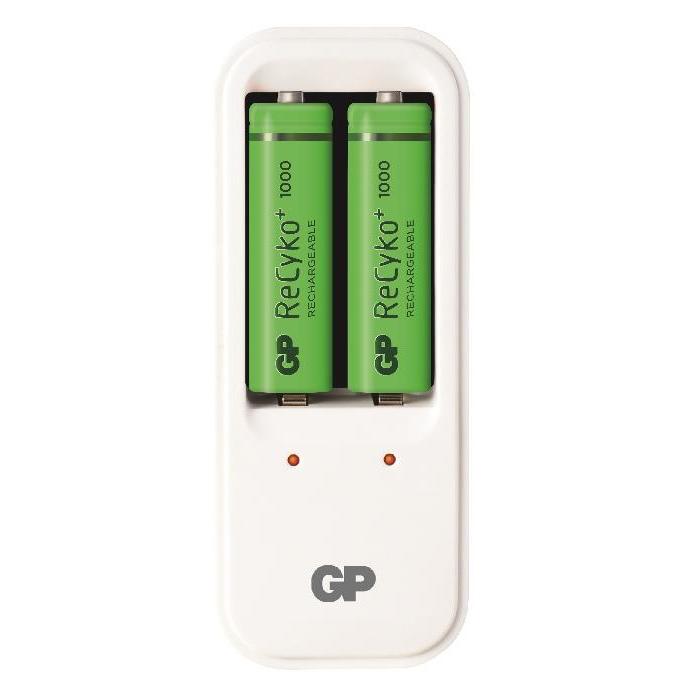 GPPB410USE210-2GBLA2   Charger Ni-MH AA/AAA 2 slots + 2 x AA batteries included