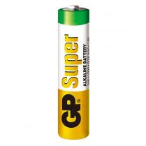 GP24A-2S2   AAA alkaline battery 1.5V GP Super (bulk, 200 units per box)