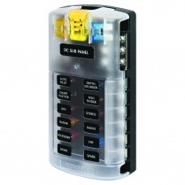BS5026   FUSE BLOCK STBLADE 12 CIRC W/GND/CVR