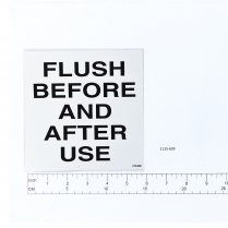 """Ambass.""""Flush Please"""" Decal"