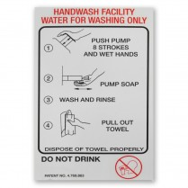 Decal- Plastic Handiwash Instr