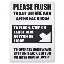 Decal- Foot Flushing