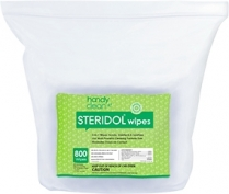 "Handyclean Steridol EPA registered wipes 7""x6"" 2 rolls X 800"