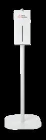 Hand Sanitizer Metal Stand Assembly - 1 Liter, Black