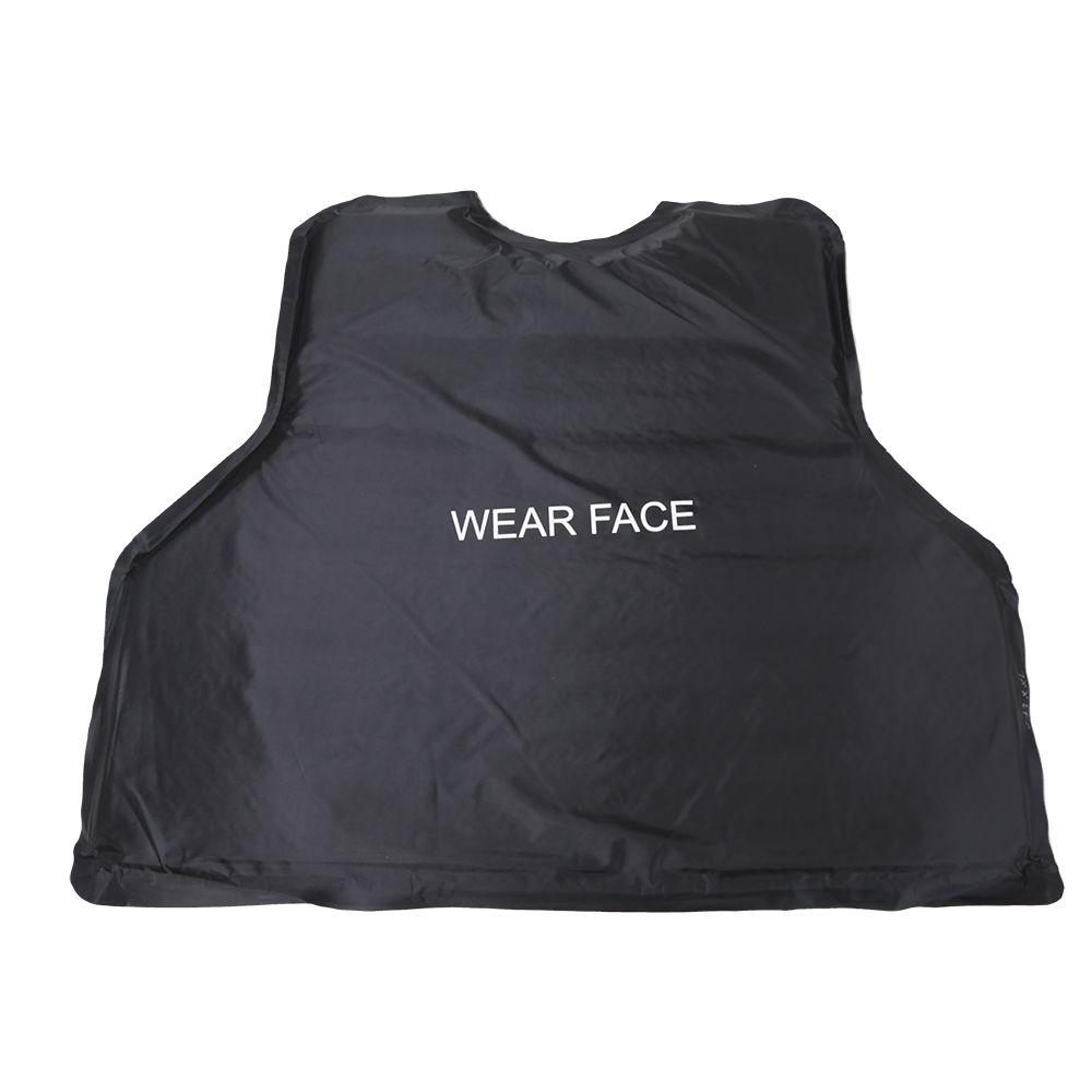 Black Outer Carrier Vest with four Level IIIA Ballistic panels