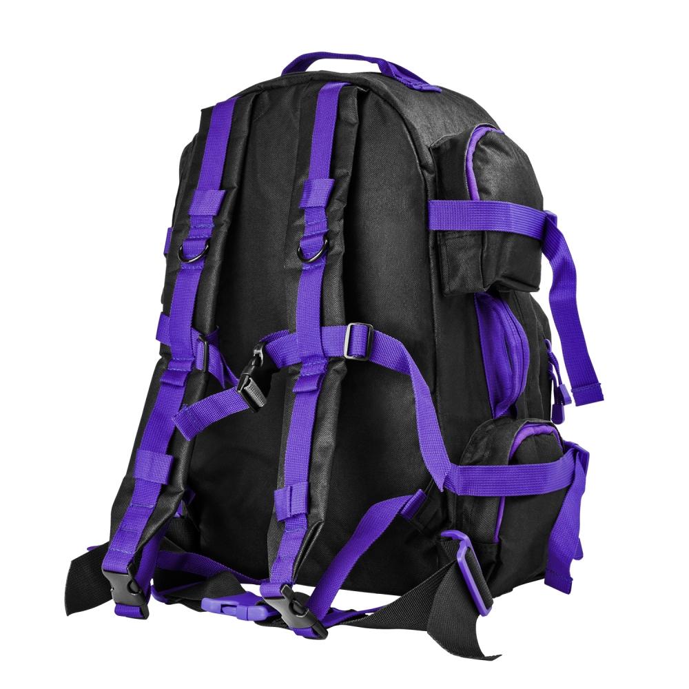 Tac Backpack/Blk/Purple Trim