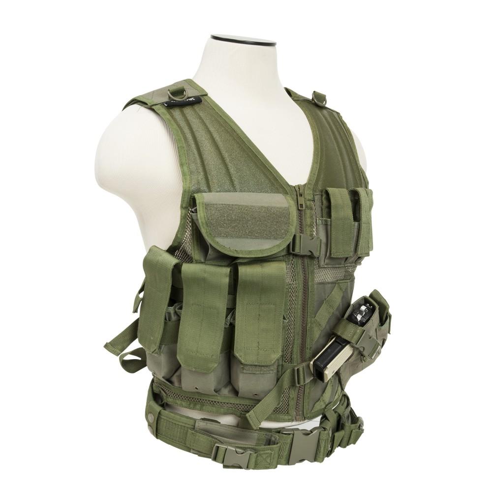 Tactical Vest/MED-2XL/Grn