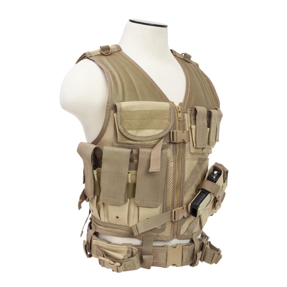 Tactical Vest/MED-2XL//Tan