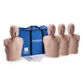 Prestan® Adult Jaw Thrust CPR Manikin with Monitor - Medium Skin - 4 Pack