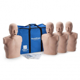 Prestan® Adult Jaw Thrust CPR Manikin without Monitor - Medium Skin - 4 Pack