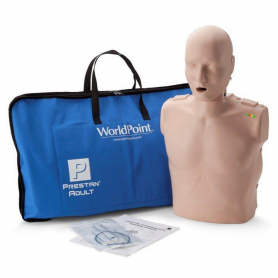 Prestan® Adult Jaw Thrust CPR Manikin with Monitor - Medium Skin