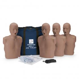 Prestan® Adult Jaw Thrust CPR Manikin with Monitor - Dark Skin - 4 Pack