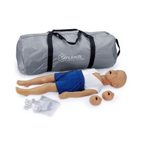 Simulaids® Kyle™ Three-Year-Old CPR Manikin with Carry Bag - Light Skin