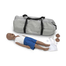 Simulaids Kyle™ Three-Year-Old CPR Manikin with Carry Bag - Dark Skin