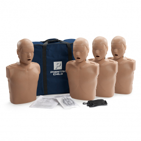Prestan® Child Manikin without CPR Monitor - Dark Skin - 4 Pack