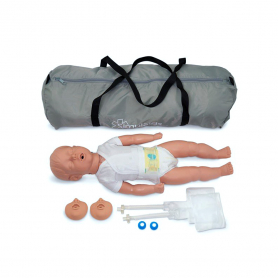 Simulaids Kevin 6 to 9 Month CPR Manikin with Carry Bag - Light Skin