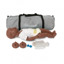 Simulaids Kevin 6 to 9 Month CPR Manikin with Carry Bag - Dark Skin