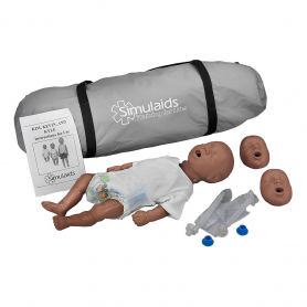 Simulaids Kim™ African-American Newborn CPR Manikin with Carry Bag