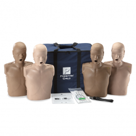 Prestan® Professional Child Diversity Kit CPR Training Manikins with CPR Monitor - 4 Pack