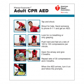 AHA Adult CPR AED Wallet Card - 100 Pack