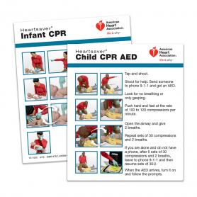 2015 AHA Heartsaver® Child & Infant CPR Wallet Card - 100 Pack