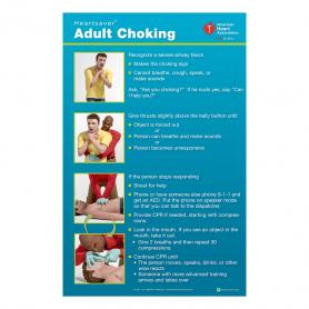 AHA Heartsaver® Adult Choking Poster - 3 Pack