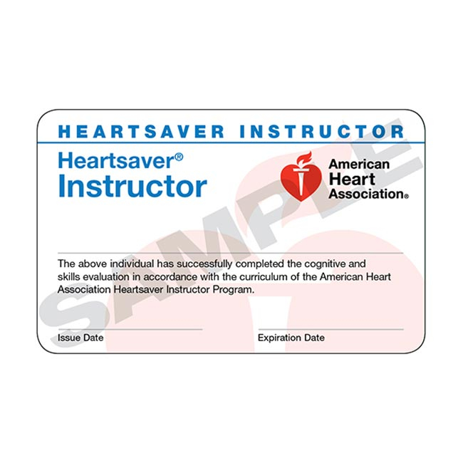 AHA Heartsaver Instructor Cards 15 Pack WorldPoint