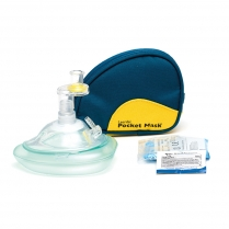 Laerdal® Pocket Mask with Gloves & Wipe in Soft Case - Blue