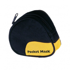 Laerdal® Pocket Mask with Gloves & Wipe in Soft Case - Black