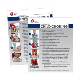 2020 AHA Heartsaver® Child & Infant Choking Wallet Card - 100 Pack