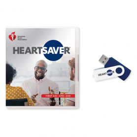 2020 AHA Heartsaver® First Aid CPR AED Course Videos on USB Drive