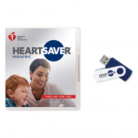 2020 AHA Heartsaver® Pediatric First Aid CPR AED Course Videos on USB Drive