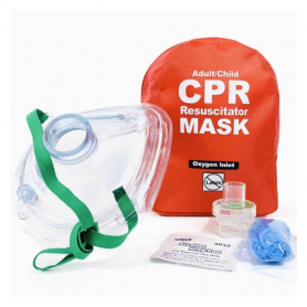 WNL Adult/Child CPR Mask in Soft Case - Red