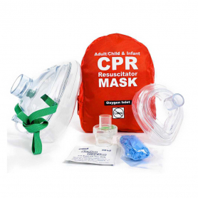 WorldPoint® Adult & Infant CPR Mask Combo in Soft Case - Red