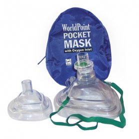 WorldPoint® Adult & Infant CPR Mask Combo in Soft Case - Blue