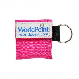 WorldPoint® CPR Keychain - Fuchsia